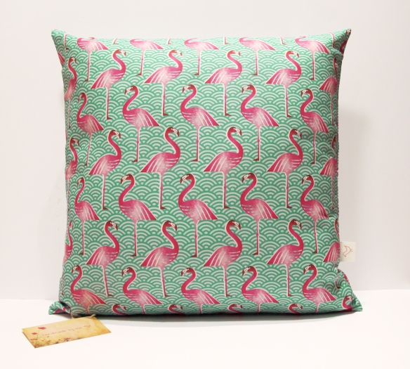 PinkFlamingoActualCushion
