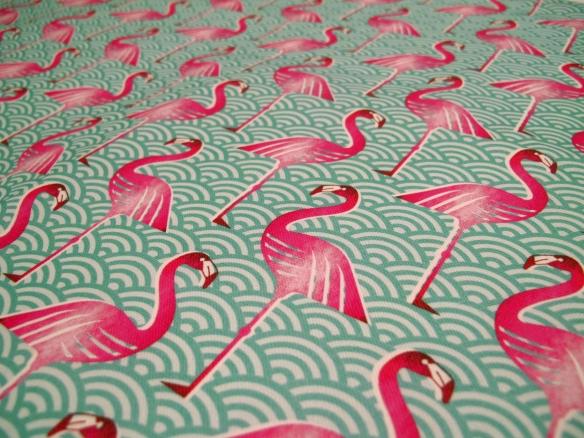 PinkFlamingoTeaTowelCloseup2