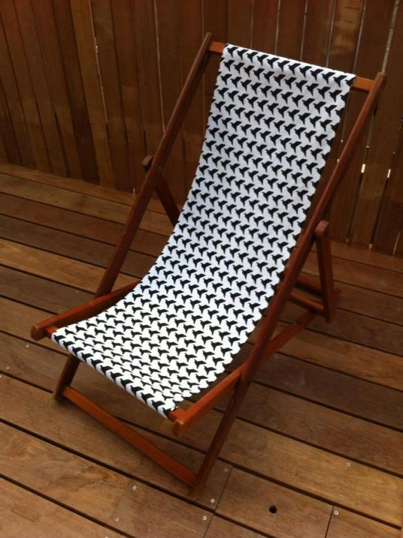 origami birds deck chair