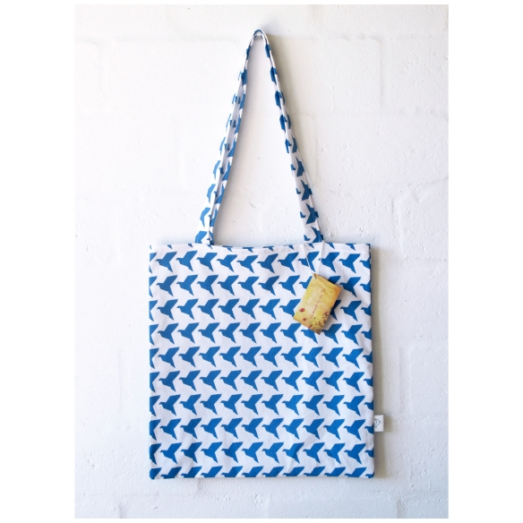 BlueOrigamiBirds_ToteBag_Square