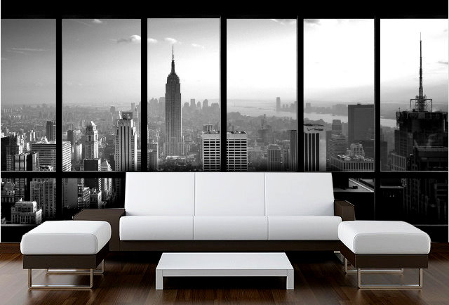 New York Window Wallpaper