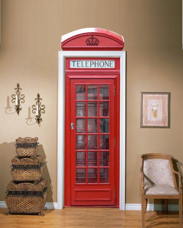 Telephone Booth Door Vinyl