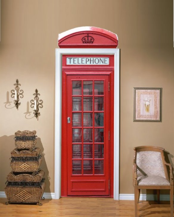 Telephone Booth Door Vinyl