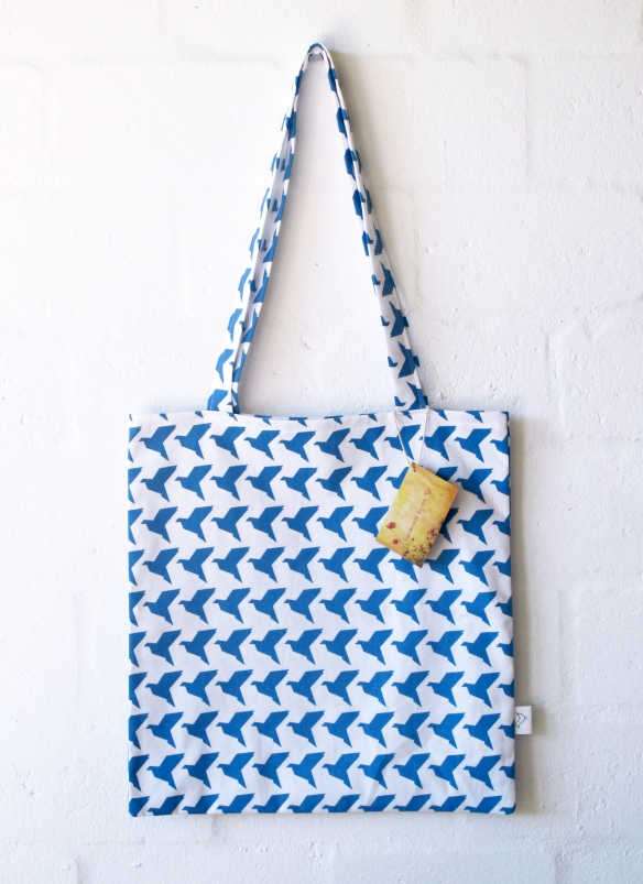 BlueOrigamiBirds_ToteBag