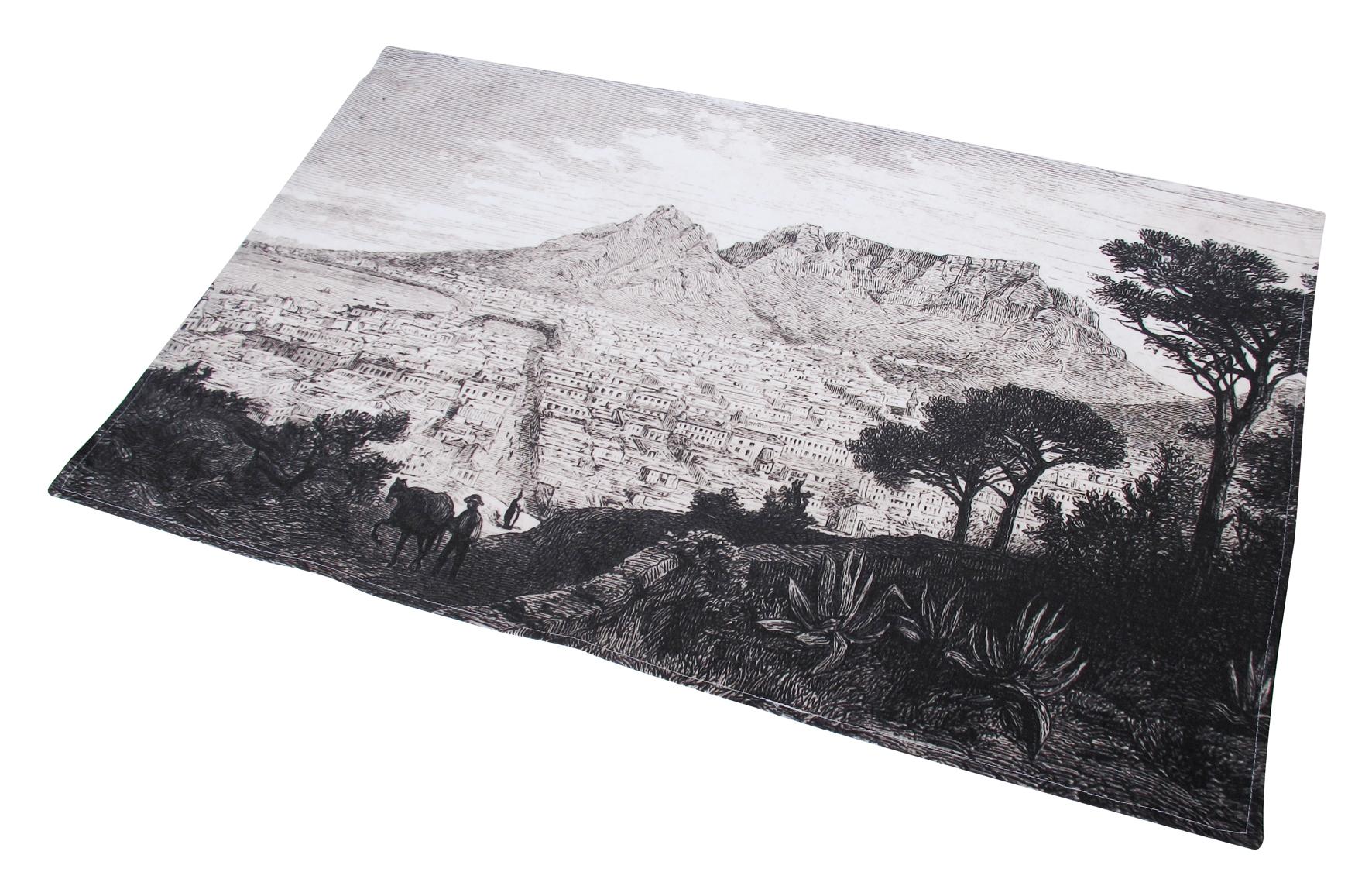 White apron cape town - Cape Town Tea Towel Capetown_teatowel_wrapped Capetown_teatowel_front