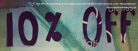 10% off fb banner