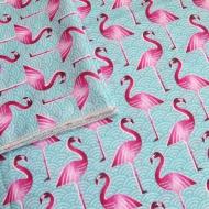 PinkFlamingo_Muslin_Blanket_Closeup