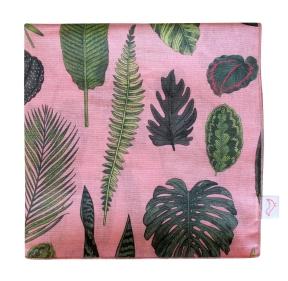FoliageOnPink_Muslin_Blanket