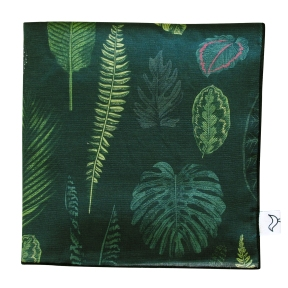 FoliageOnGreen_Muslin_Blanket