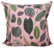 FoliageOnPink_LuxPanama_Cushion